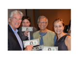 RICHARD GERE AND MIKE MEYERS SHOWING THEIR DOLLARS WITH MUHAMMAD YUNUS AND GAYLE FERRARO AT CORE CLUB, NYC