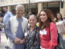 GRAMEEN FOUNDER, PROF. YUNUS, WITH NEW ENTREPRENEUR AND CENTER MANAGER